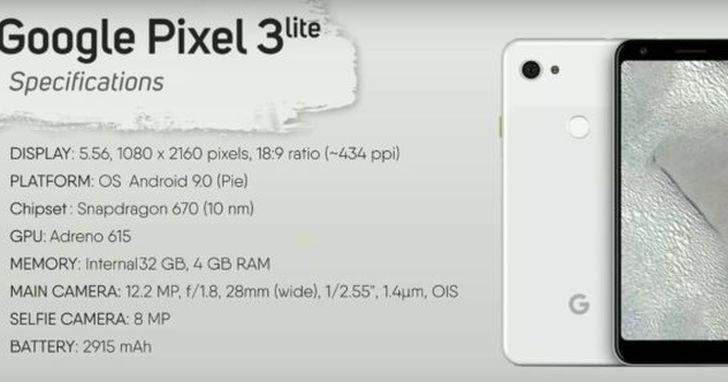 Pixel 3 Lite 介紹影片流出,相機類似 Pixel 3