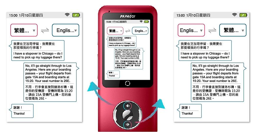 看準春節出國需求,PAPAGO! TG-100 翻譯棒搭載 44 種多國語言上市