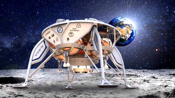 以色列私人組織將發射月球登陸器,太空船上的時空膠囊將包括以色列國旗和舊約聖經