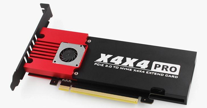 更親民的 PCIe M.2 2280 4 槽轉接卡選擇,JEYI 使用 ASMedia ASM2824 推出 X4X4