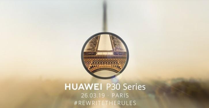 華為 P30 系列確定在法國巴黎發表,3/26 正式登場