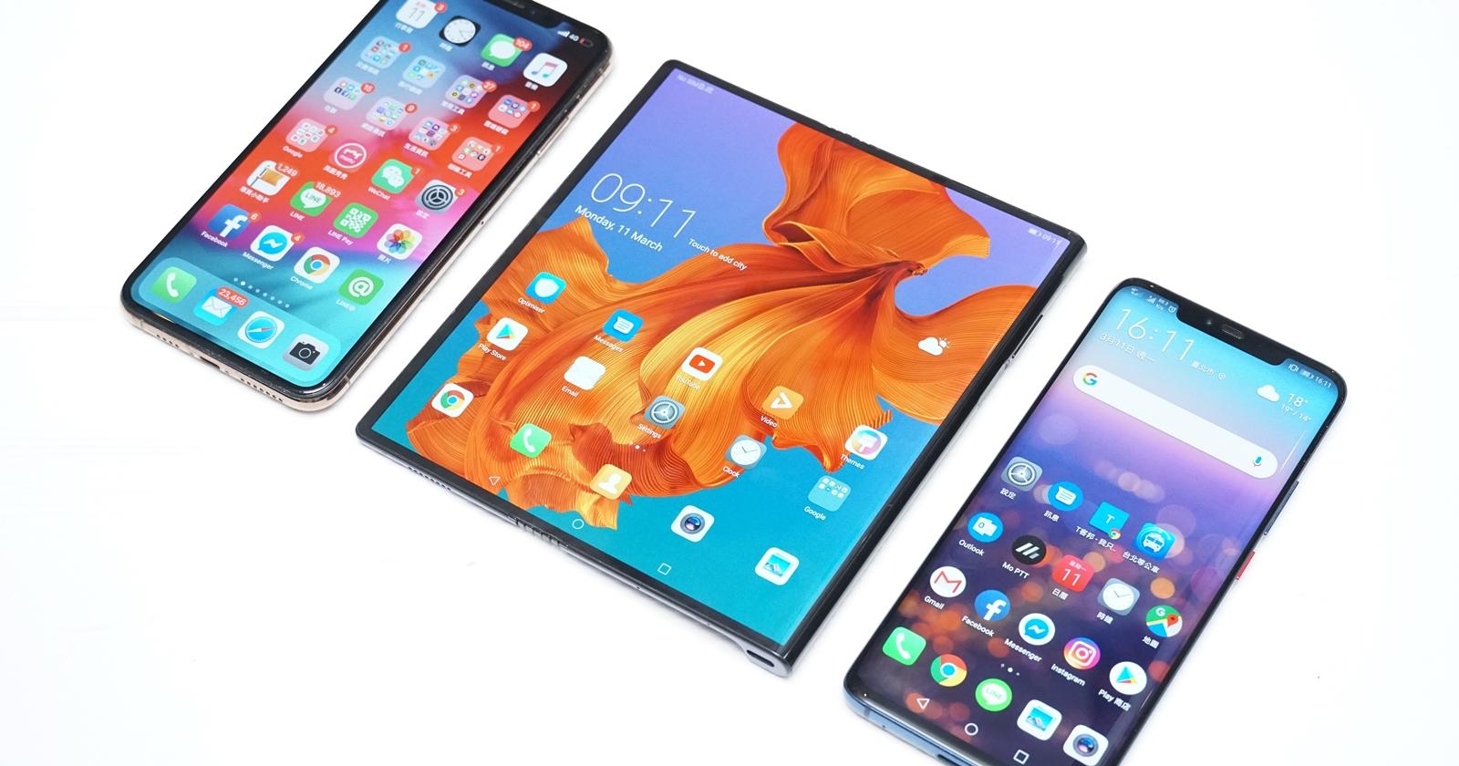 華為 Mate X 摺疊螢幕近距離動眼看,雙開 app、玩遊戲、打字輸入更順暢