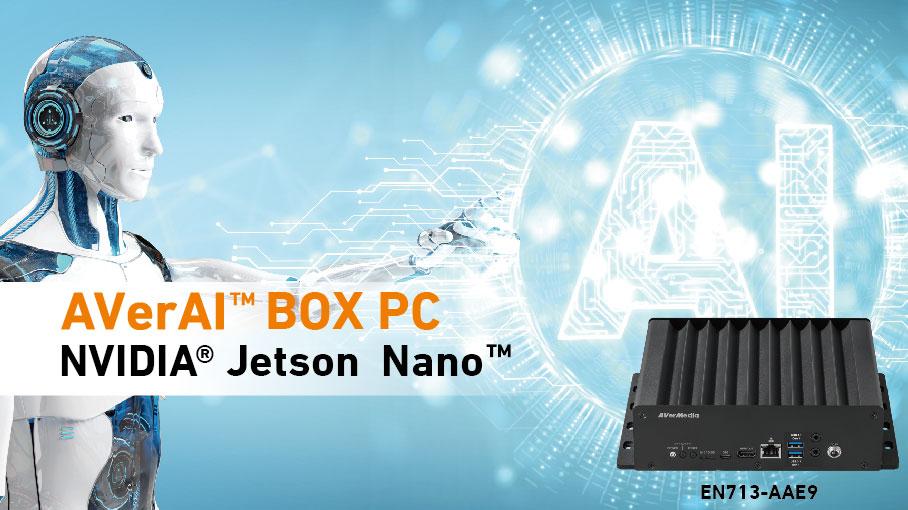 圓剛於NVIDIA GTC 2019領先推出搭載Jetson Nano人工智慧模組的AVerAI BOX-PC
