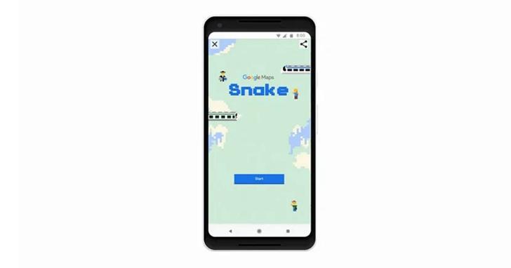 Google 地圖愚人節彩蛋:在手機上選擇城市戰場玩一場「貪食蛇」