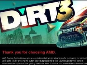 AMD 外包網站疏失,洩漏 1,700 萬個 Dirt3 遊戲金鑰