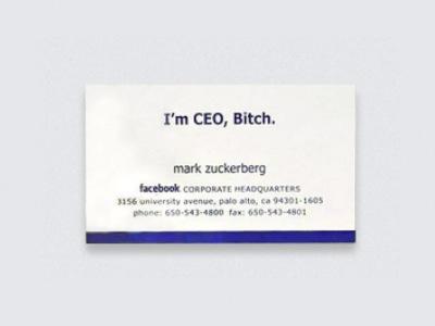 這是我的名片 I'm CEO,Bitch.