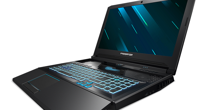 Acer Predator 掠奪者 Helios 700 電競筆電登場,HyperDrift 滑動鍵盤成為散熱新設計