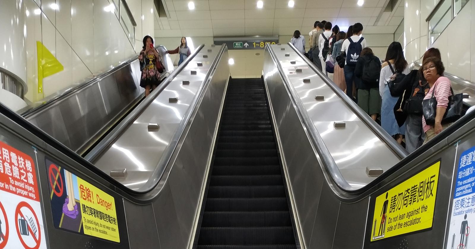 電扶梯靠右站立到底會不會影響機械壽命?北捷:不會
