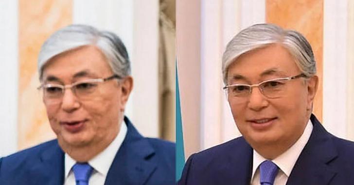 哈薩克臨時總統的官方照美肌模式開太大,封面與本人完全不符