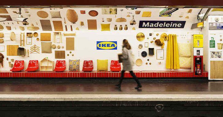 宜家新店店、巴黎宜家家:巴黎地鐵站被宜家改造成了「展示間」