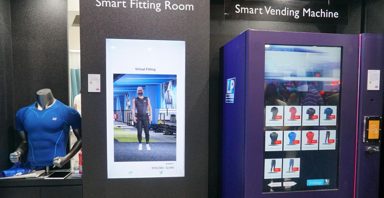 Computex 2019:BenQ 在 Computex 展出智慧無人商店,介紹商品、試穿、購買一站完成