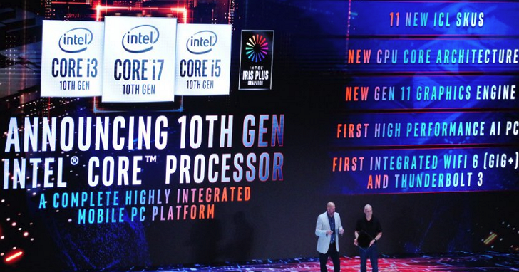 Computex 2019:Intel 第十代 Core i 系列處理器登場,代號 Ice Lake、筆電率先使用