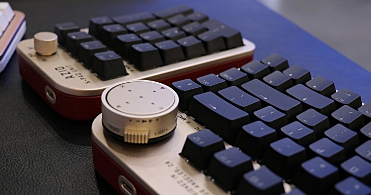 Computex 2019:電腦周邊也吹起復古清流,AZIO展出結合老式相機元素與水泥異材質的藍牙打字機鍵盤