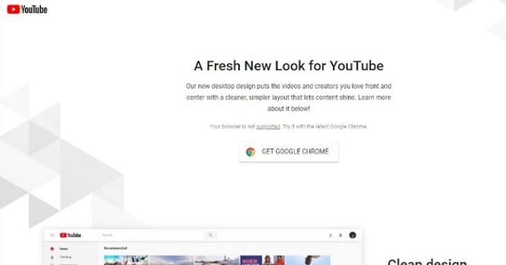 YouTube 被網友發現拒絕Chromium版Edge瀏覽器看新版介面,還建議你去下載Chrome瀏覽器再來體驗