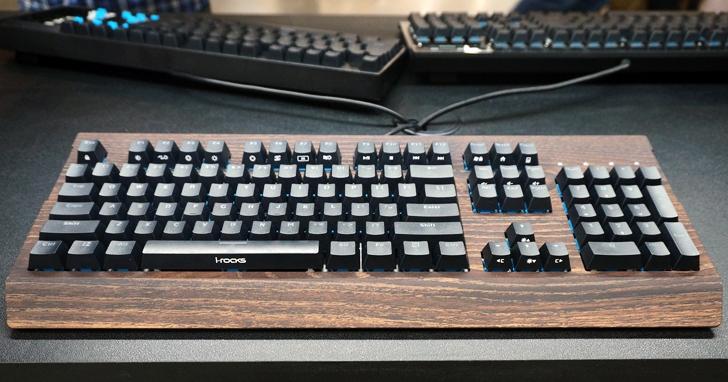 Computex 2019:i-Rocks推出仿木紋以及超平價Cherry軸機械鍵盤,同場加映自家研發磁力軸