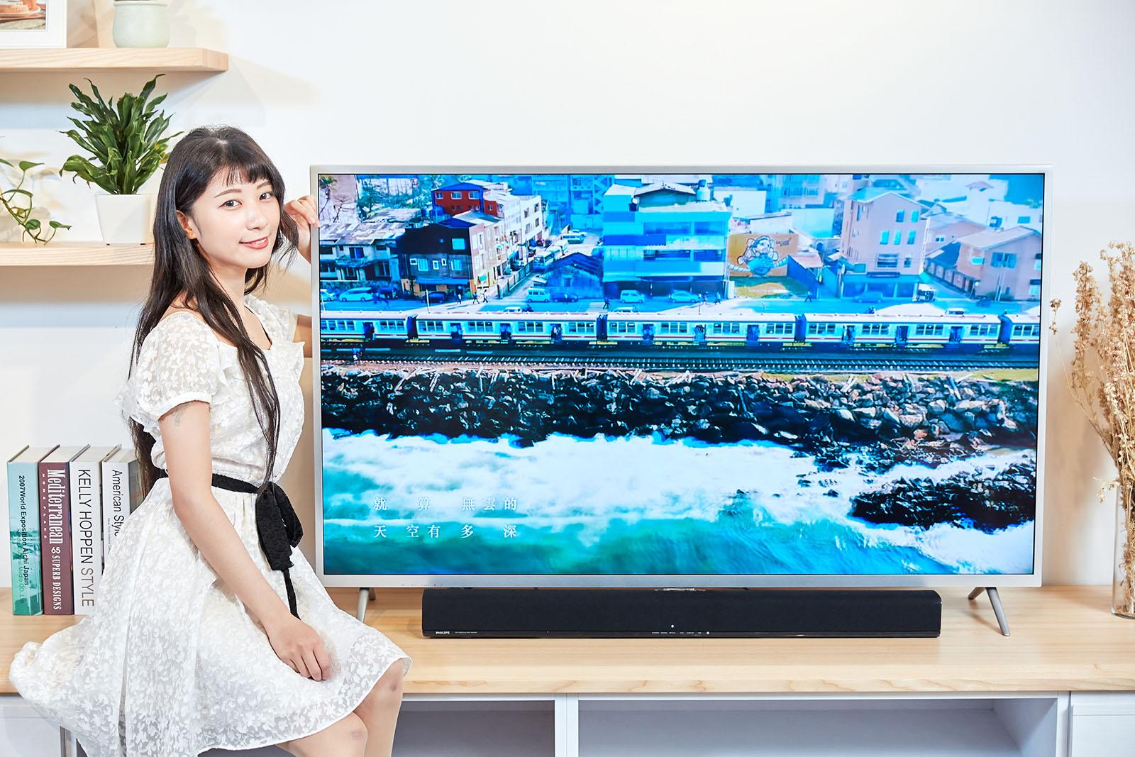 影音雙全,有聲有色,PHILIPS 55PUH6073 液晶大型顯示器與 HTL1190B 聲霸,輕鬆打造家庭電影院