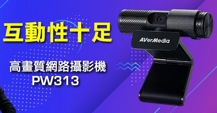 搭載動態濾鏡特效,圓剛高畫質網路攝影機PW313正式販售