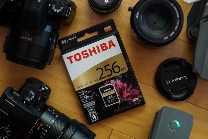 TOSHIBA EXCERIA PRO N502 記憶卡,輕鬆寫入 8K 影片,更大容量更順暢