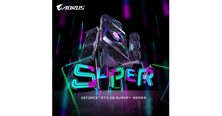 SUPER降臨! 技嘉率先重磅推出新一代 GeForce RTX 20 SUPER Series晶片顯示卡