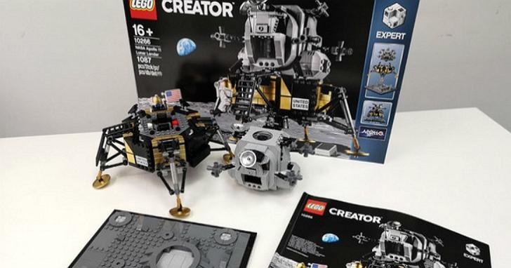 航空工程師玩樂高跟你不一樣,將 Apollo 11登月小艇組裝好之後還要讓它真正飛起來!