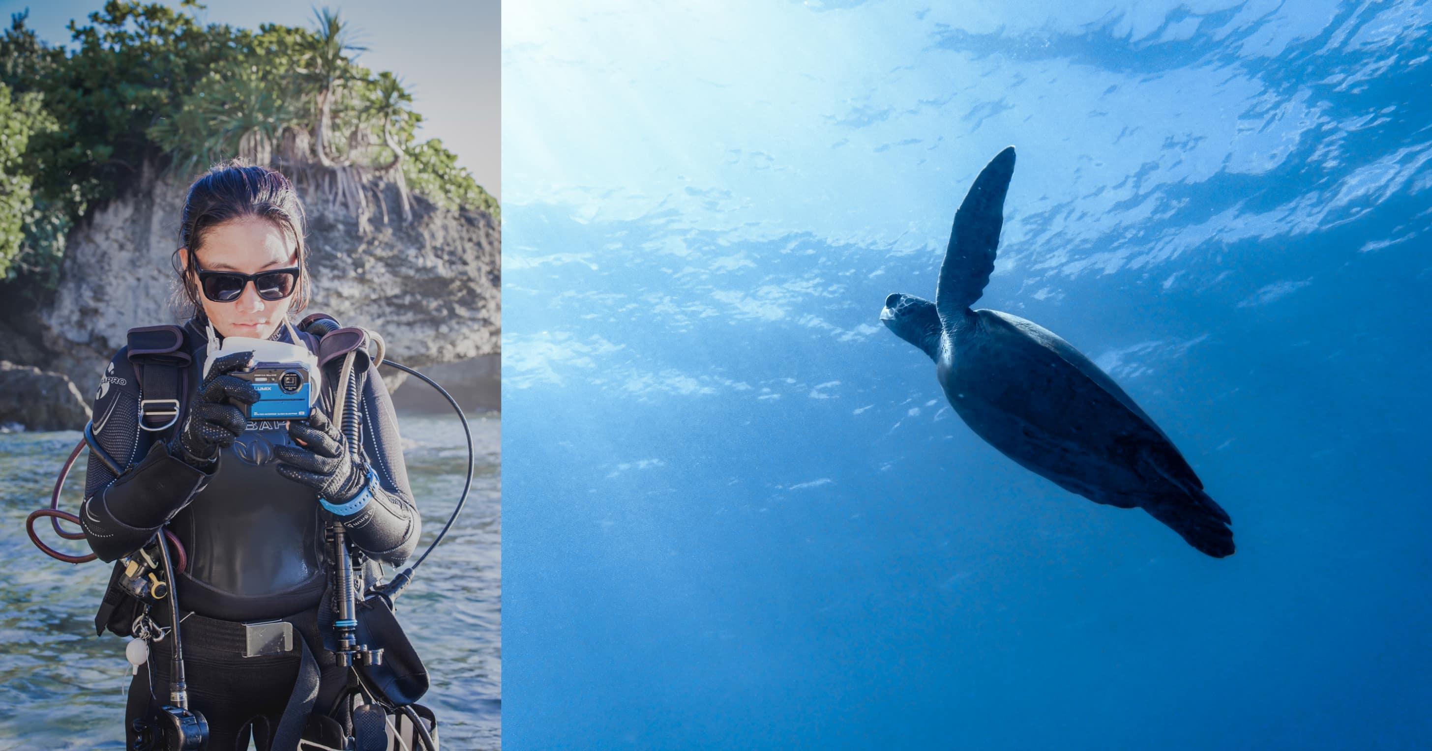 最有「潛」力的五防強固相機 Panasonic LUMIX DC-TS7:上山下海的戶外夥伴 讓「神眼導潛」林音樂紀錄大海孕育的感動