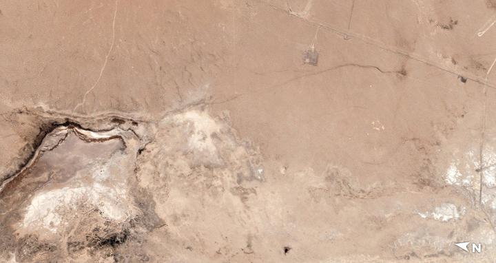 加州大地震後,震央地表出現了一道清晰可見的「傷疤」