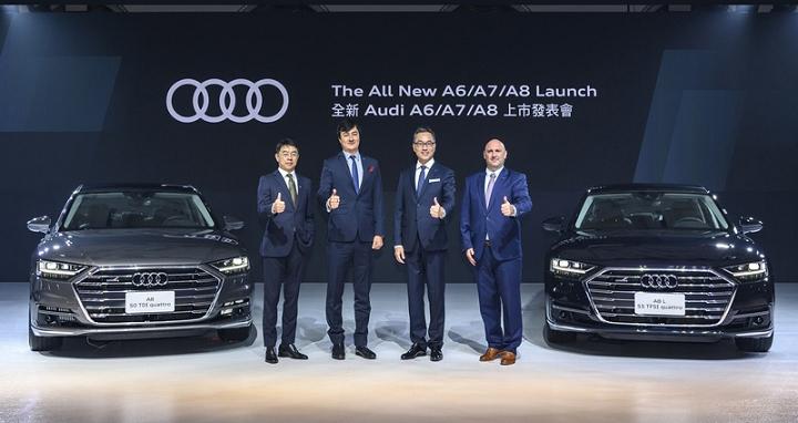 Audi A6、A6 Avant、A7 Sportback、A8 全家來台,陣容超豪華