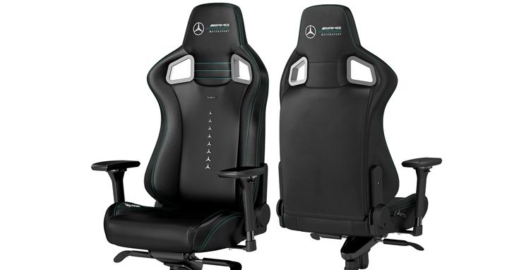 德國品牌noblechairs 獲得 Mercedes-AMG 電競團隊授權,在台推出聯名賽車電競椅,售價 NT$18,800 元