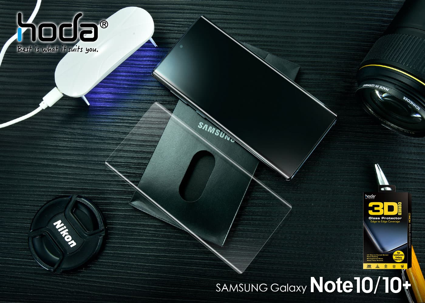 與O極限全螢幕最相配的玻璃貼!hoda隆重推出三星Note 10系列玻璃保護貼