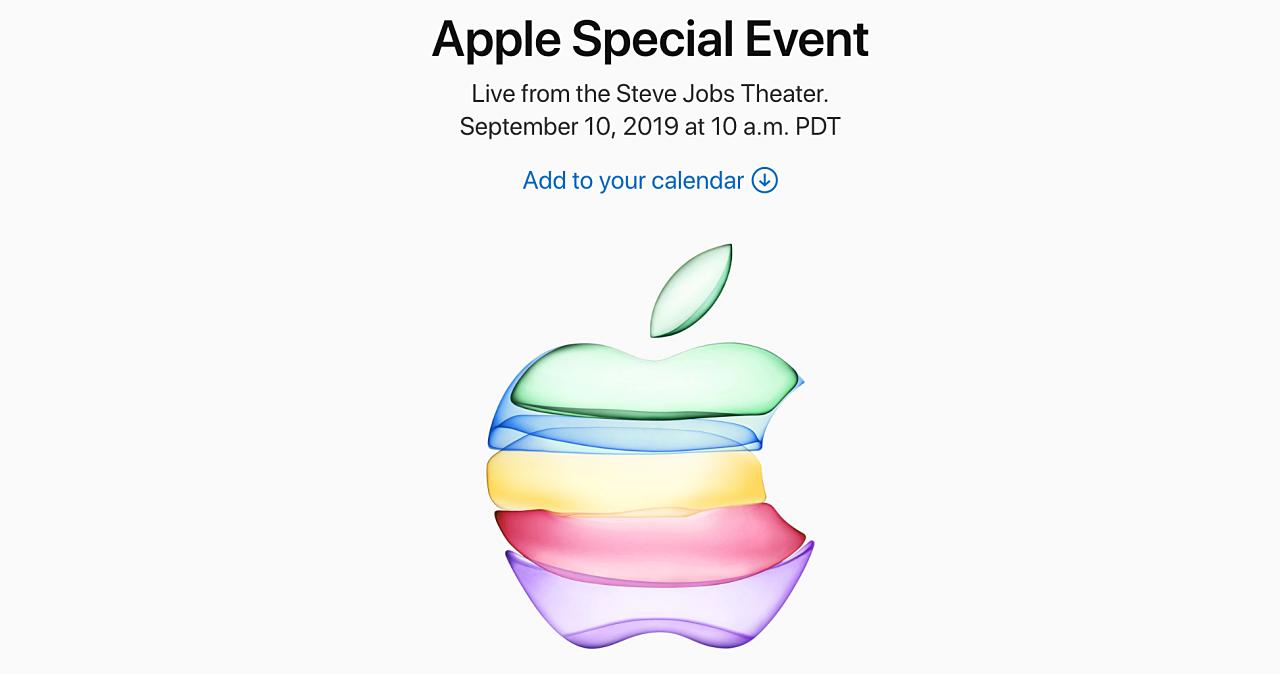 Apple 秋季發表會來了,9/10 iPhone 11 即將登場?