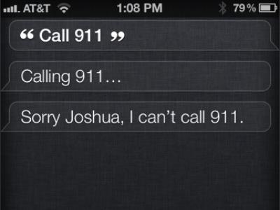 Siri:對不起,我不能幫你打 911 之搞笑對話大全
