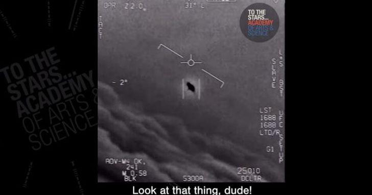 美國海軍首證實,戰鬥機拍下「不明空中現象」的影片為真