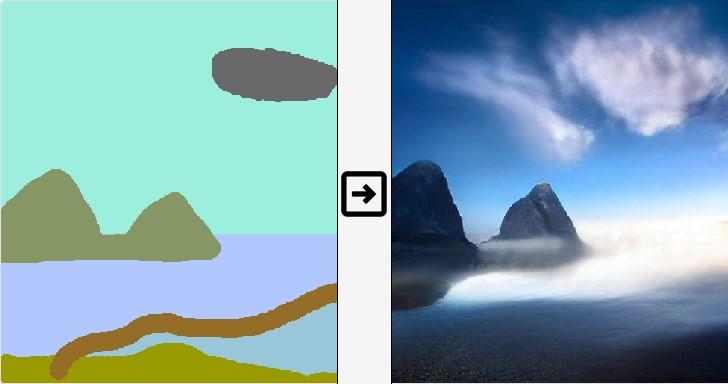 台灣之光!看NVIDIA GauGAN AI技術如何把塗鴉變絕景