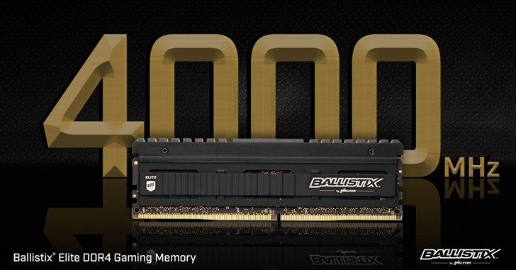美光(Micron)記憶體寫下了全新的 DDR4 超頻世界紀錄 Ballistix 模組可超頻達6024MT/s