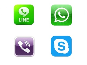 Whatsapp、Viber、Skype、Line,你用那個通訊軟體?