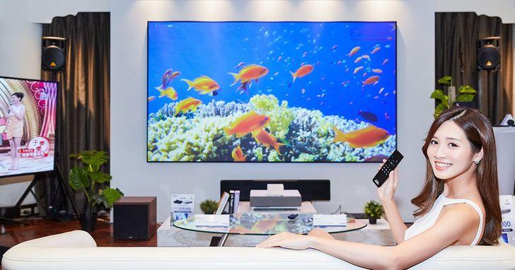 Epson 發表全新智慧 4K 雷射投影電視 EH-LS500,輕巧機身輕鬆投影120 吋大畫面