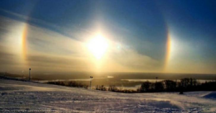 吉林天空出現三個「太陽」異象?氣象專家這樣說