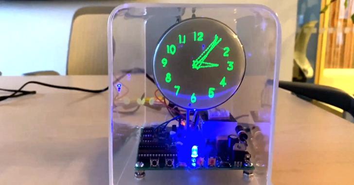 新年Geek手工:廢棄的電視不要扔!拆掉映像管,改造一隻炫酷向量時鐘
