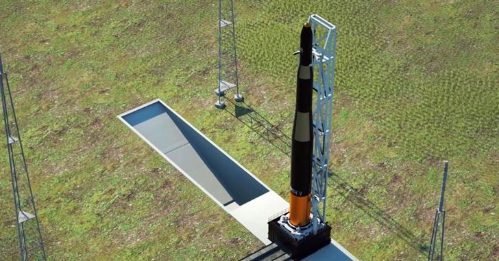 臺灣第一枚商用太空火箭「飛鼠一號」準備升空