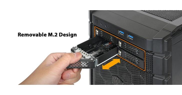 M.2 NVMe SSD 隨意熱插拔,ICY DOCK 推出 ToughArmor MB720M2K-B 4 槽 5.25 吋抽取盒
