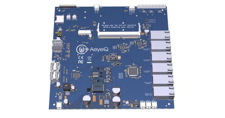 AeyeQ航空母艦級母板,輕鬆為Jetson迷你AI電腦連接多台網路攝影機