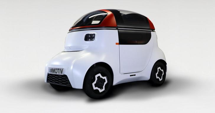 單人座微型自動駕駛電動車 MOTIV,二到五年內有機會量產
