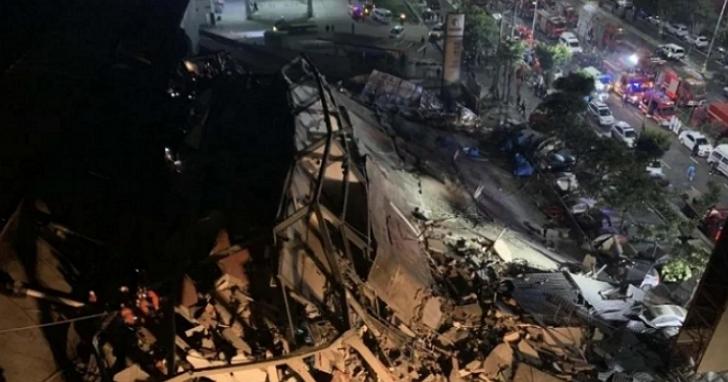 福建泉州一間指定為隔離新冠患者的飯店坍塌,70多人遭埋被困