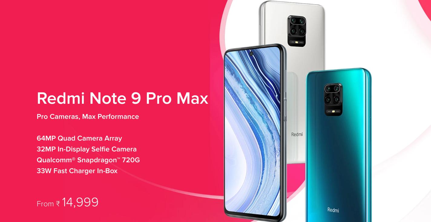 紅米 Note 9 Pro Max / Note 9 Pro 印度發表,大螢幕、大電池、四矩陣鏡頭
