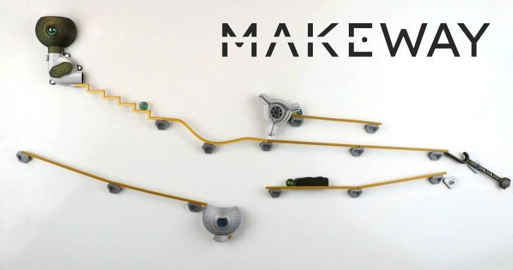 免插電的「電動玩具」,Makeway軌道彈珠遊戲讓你一玩上癮