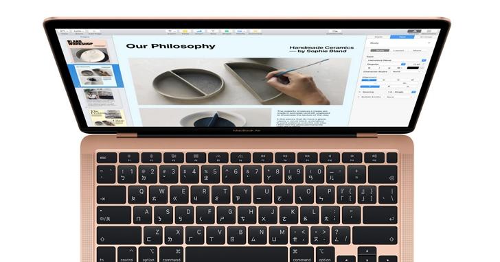 蘋果更新Macbook Air,較前代2倍效能、剪刀腳鍵盤回來了!售價台幣31,900元起