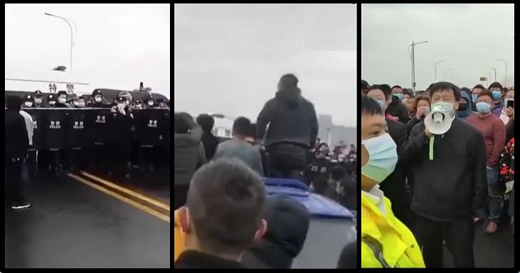不信湖北「零確診」,江西派出武裝特警捍衛省界禁湖北人入境!與湖北警察、群眾大亂鬥