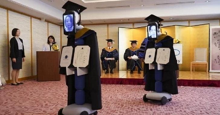 日本舉辦一場線上畢業典禮,網友看到「代理機器人」後忙喊:暫時停止呼吸!