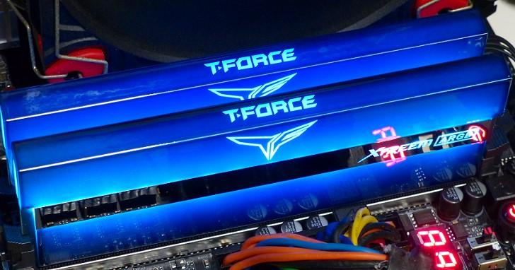 幻彩鏡面 ARGB 發威,Team Group T-Force XTREEM ARGB DDR4-4000 8GB x 2 16GB kit 雙通道實測