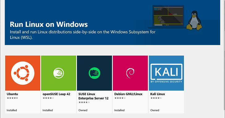 未來使用者在 Windows 10 中將可以透過檔案總管存取 Linux 子系統檔案